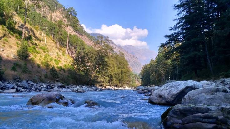 Parvati River in Kasol