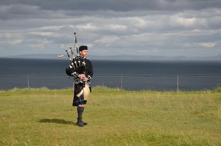 Highlands of Scotland - Bagpiper